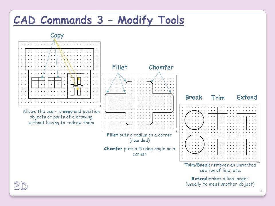 CAD Commands 3 – Modify Tools