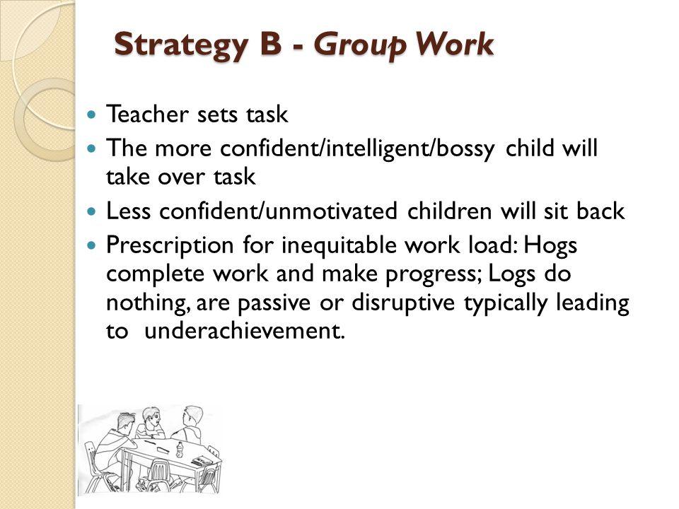 Strategy B - Group Work Teacher sets task