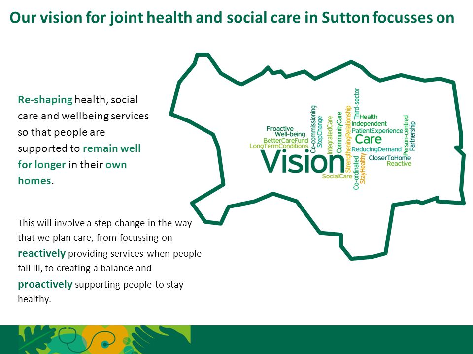 Our vision for joint health and social care in Sutton focusses on