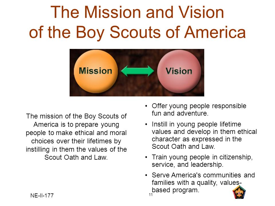 The Mission and Vision of the Boy Scouts of America