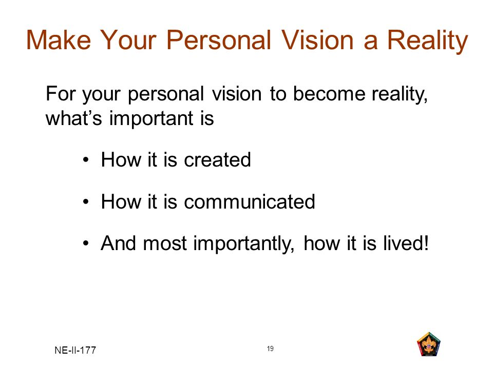 Make Your Personal Vision a Reality