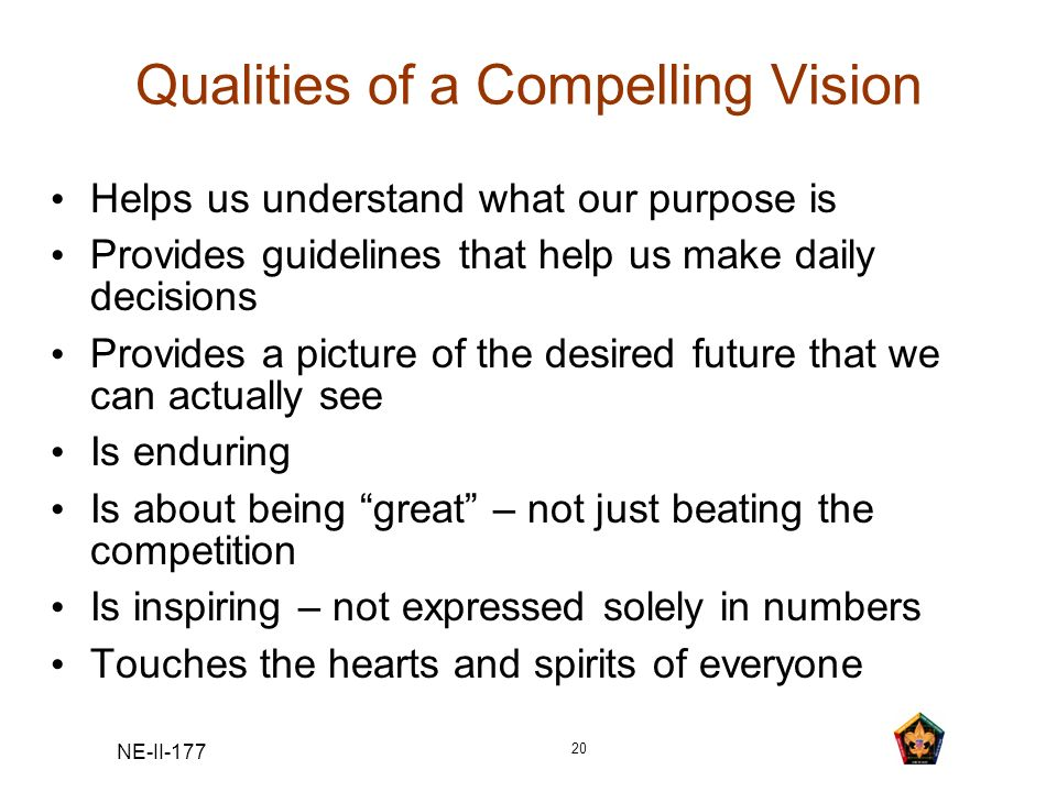 Qualities of a Compelling Vision