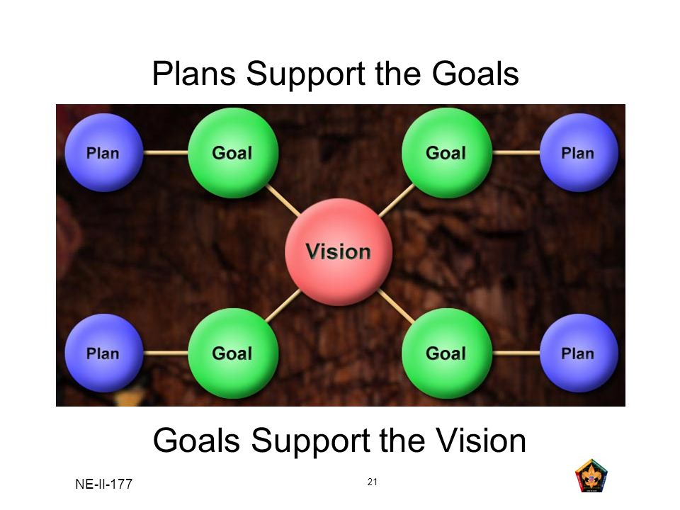 Plans Support the Goals Goals Support the Vision
