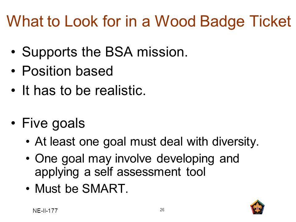 What to Look for in a Wood Badge Ticket
