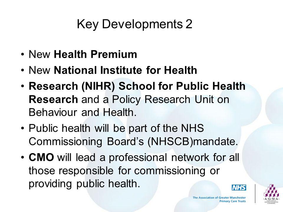 Key Developments 2 New Health Premium