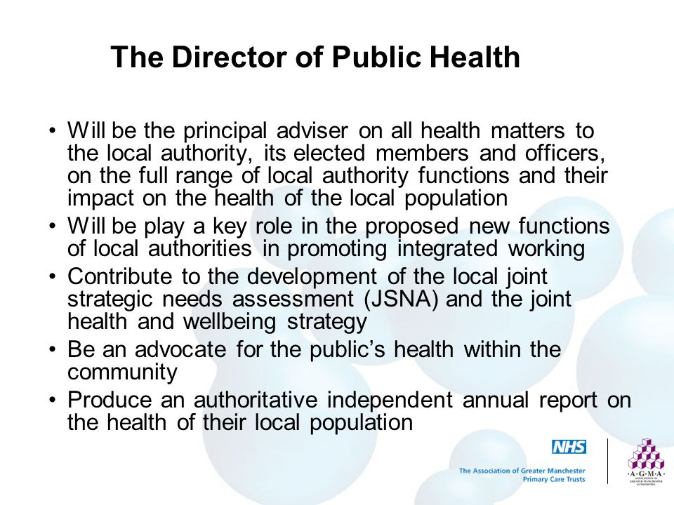 The Director of Public Health
