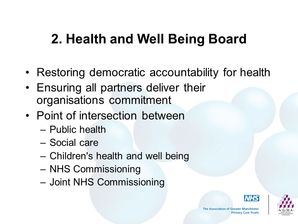 2. Health and Well Being Board