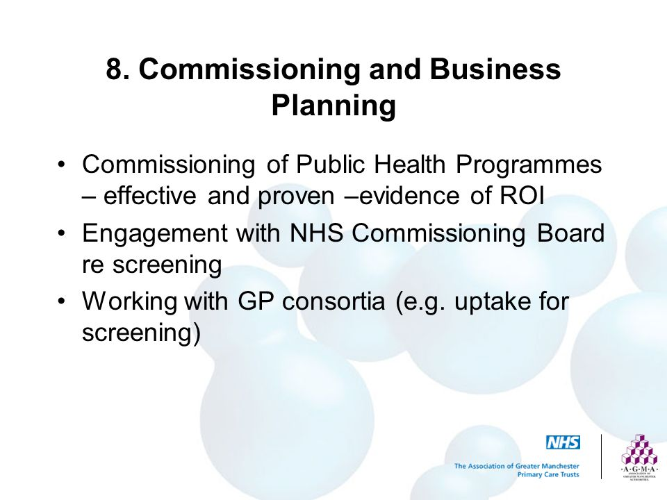 8. Commissioning and Business Planning