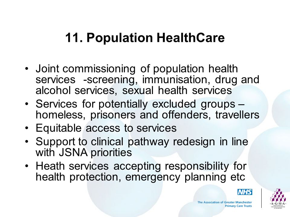 11. Population HealthCare