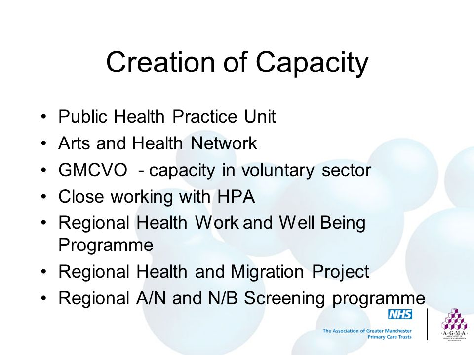 Creation of Capacity Public Health Practice Unit