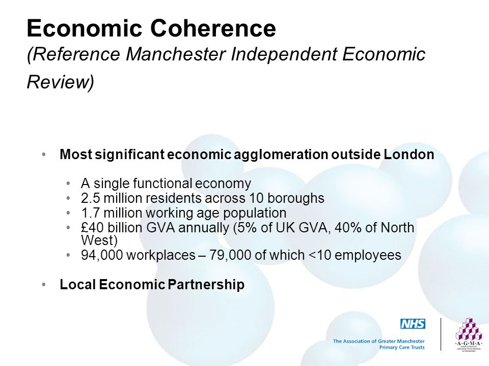 Economic Coherence (Reference Manchester Independent Economic Review)