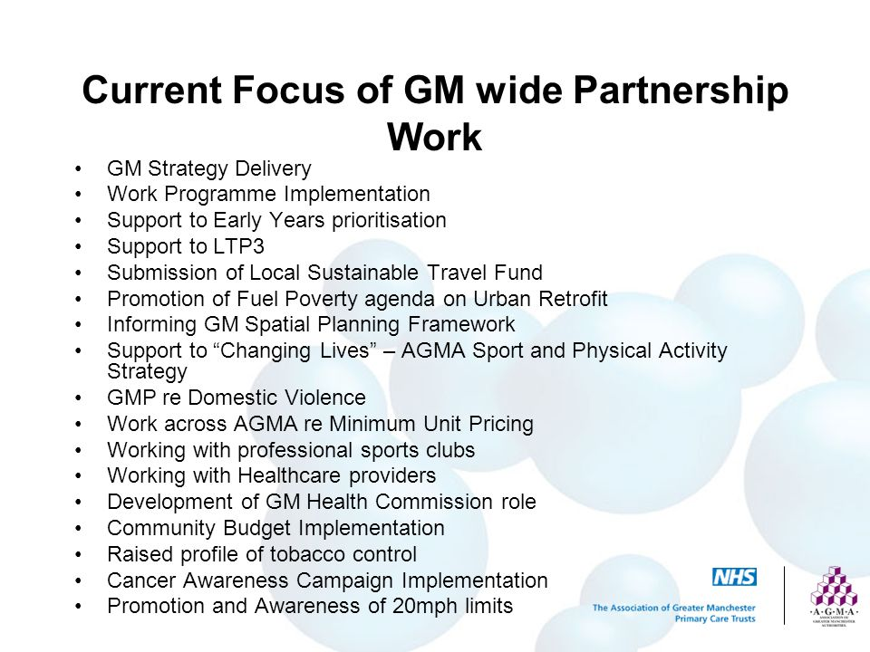 Current Focus of GM wide Partnership Work
