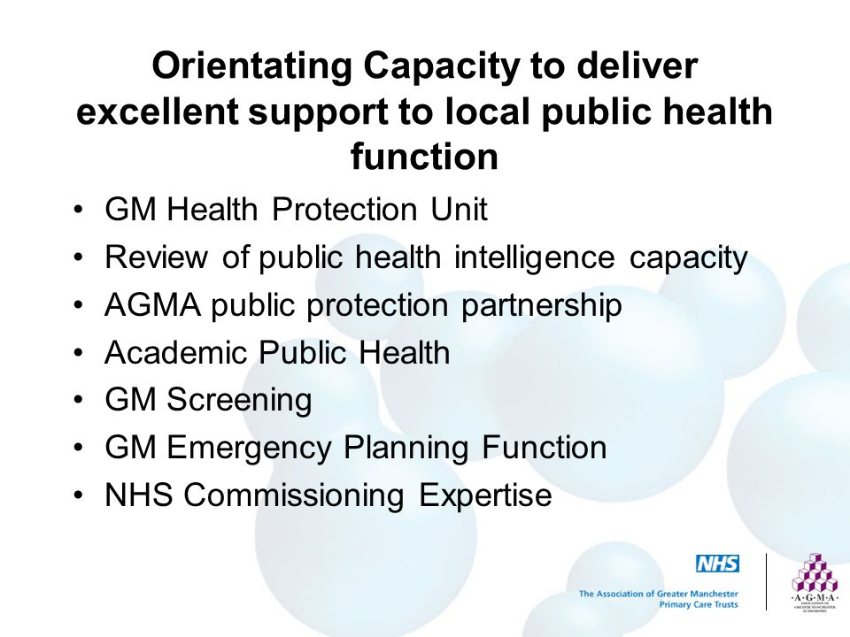 Orientating Capacity to deliver excellent support to local public health function