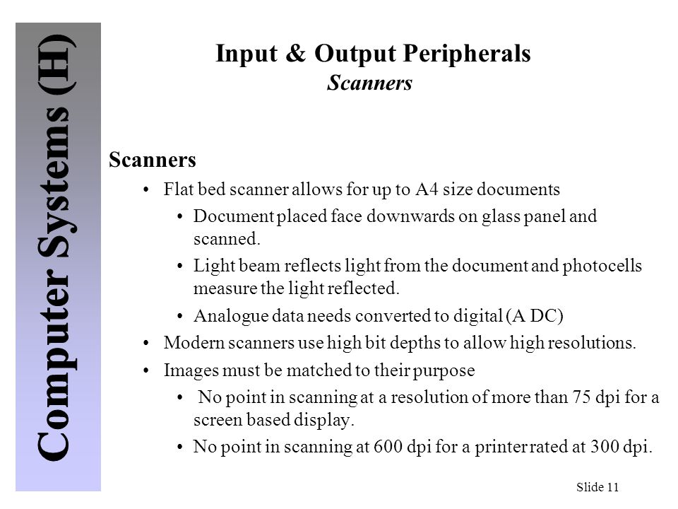Input & Output Peripherals Scanners