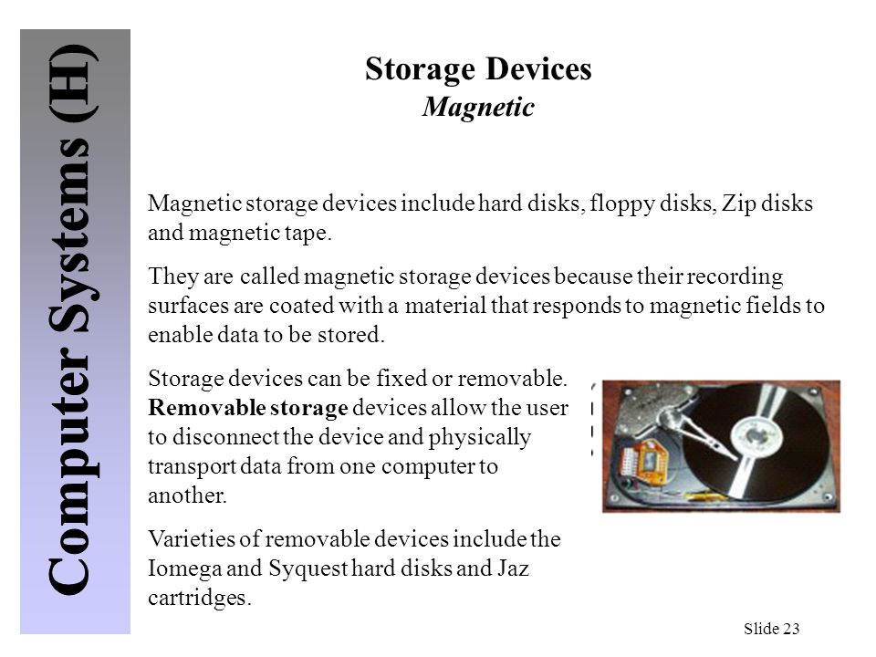 Storage Devices Magnetic