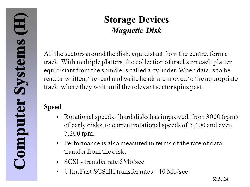 Storage Devices Magnetic Disk