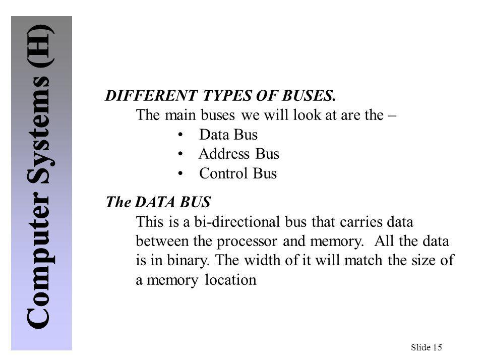 DIFFERENT TYPES OF BUSES.