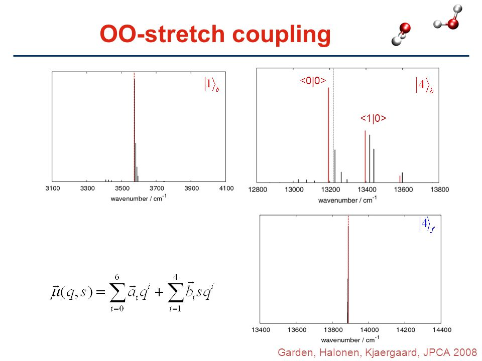OO-stretch coupling <0|0> <1|0>