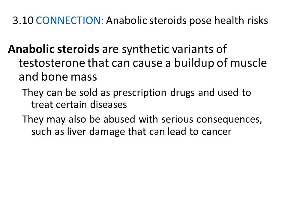 3.10 CONNECTION: Anabolic steroids pose health risks