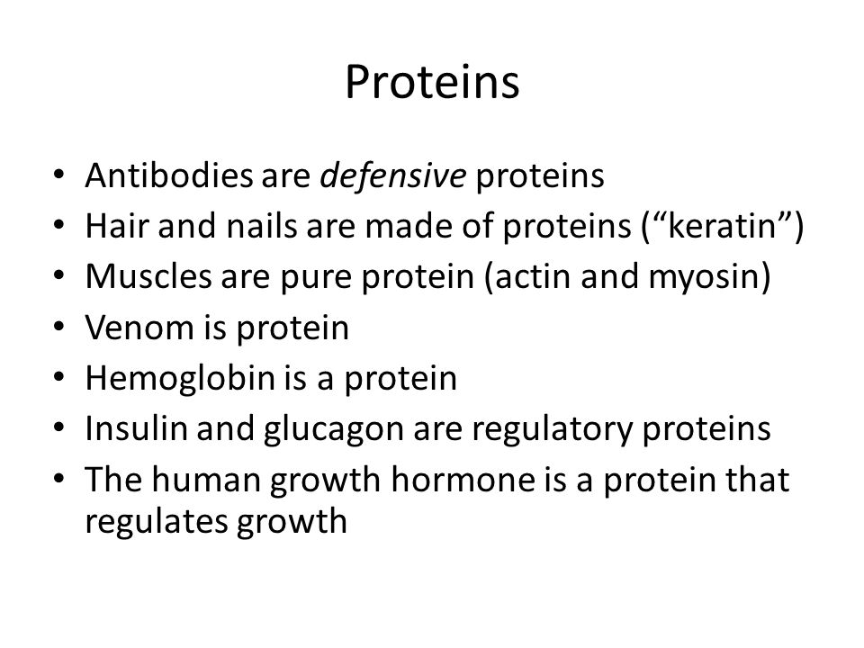Proteins Antibodies are defensive proteins