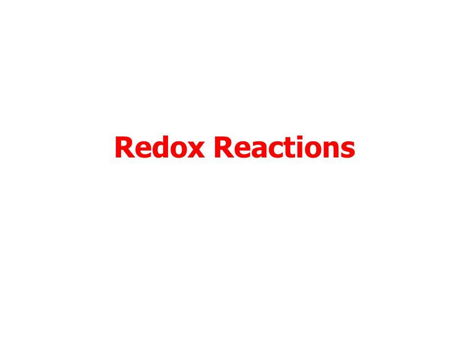 Redox Reactions