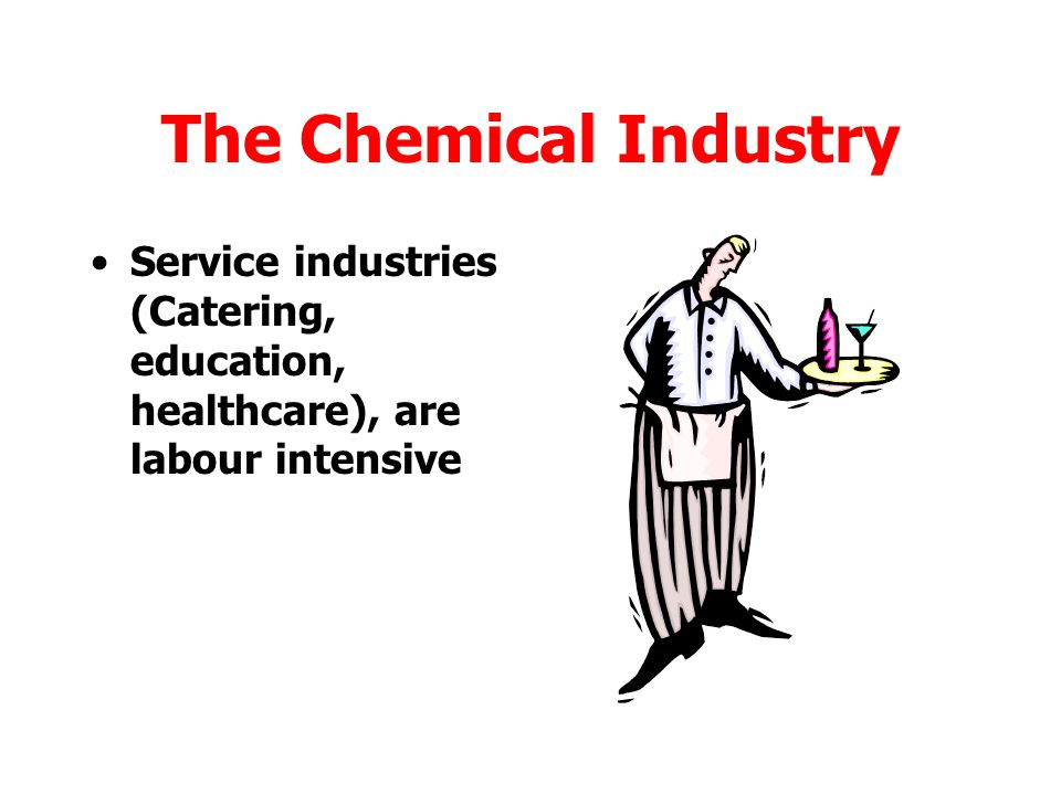 The Chemical Industry Service industries (Catering, education, healthcare), are labour intensive