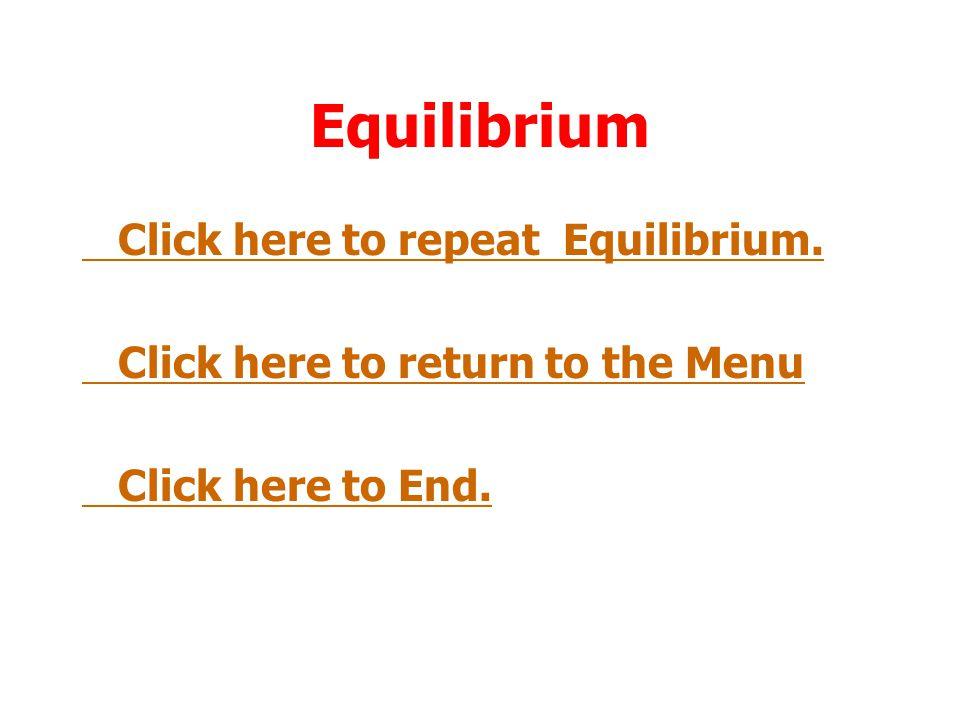 Equilibrium Click here to repeat Equilibrium.