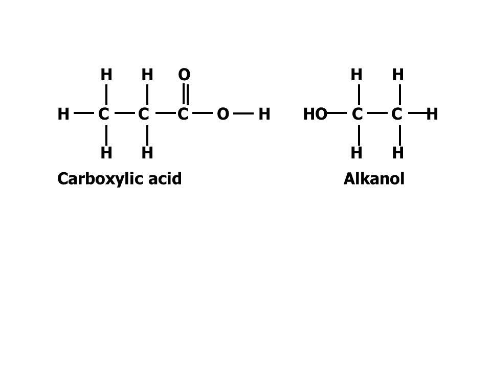 H H O H C C C O H. H H. Carboxylic acid. H H. HO C C H.