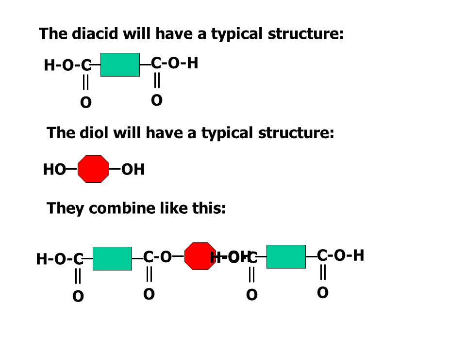 The diacid will have a typical structure: