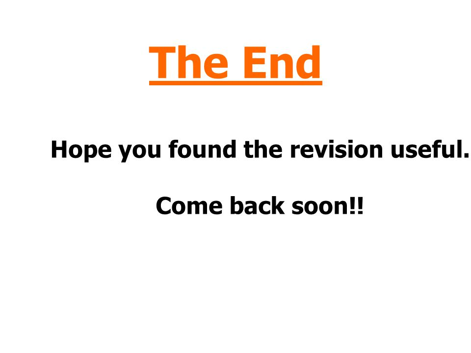 Hope you found the revision useful.