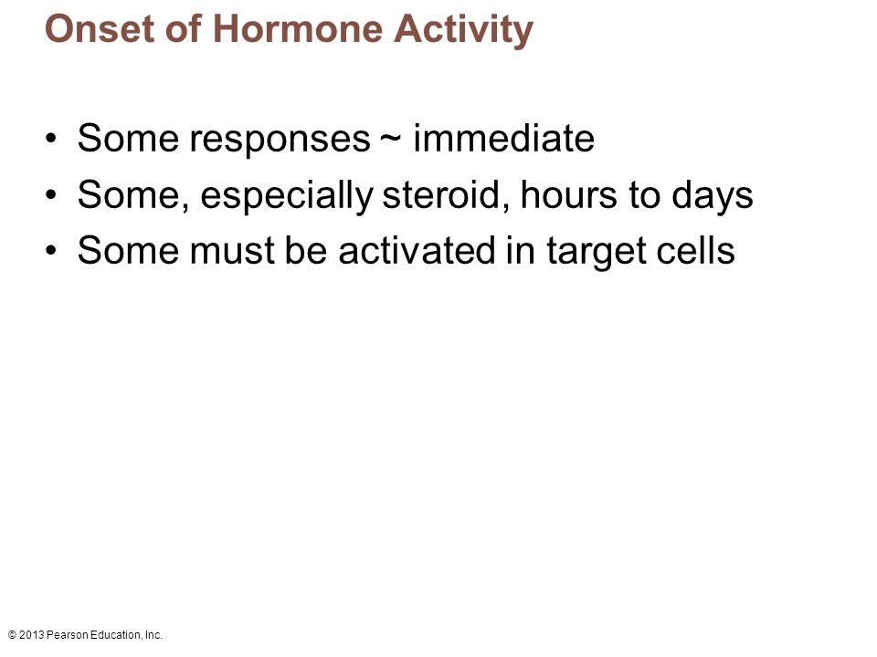 Onset of Hormone Activity