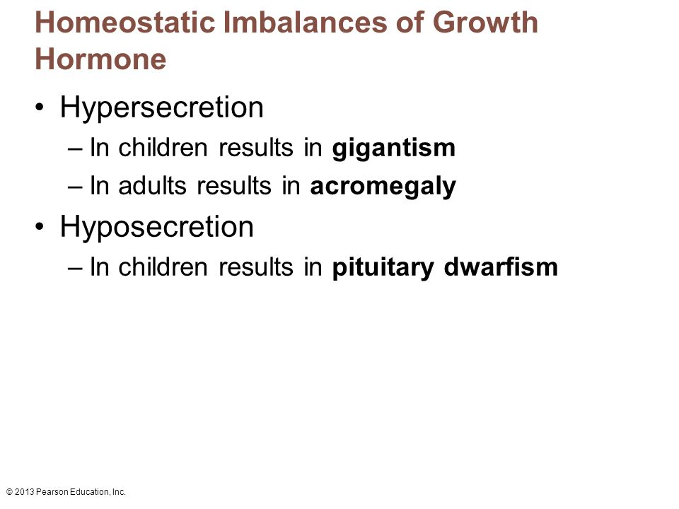 Homeostatic Imbalances of Growth Hormone