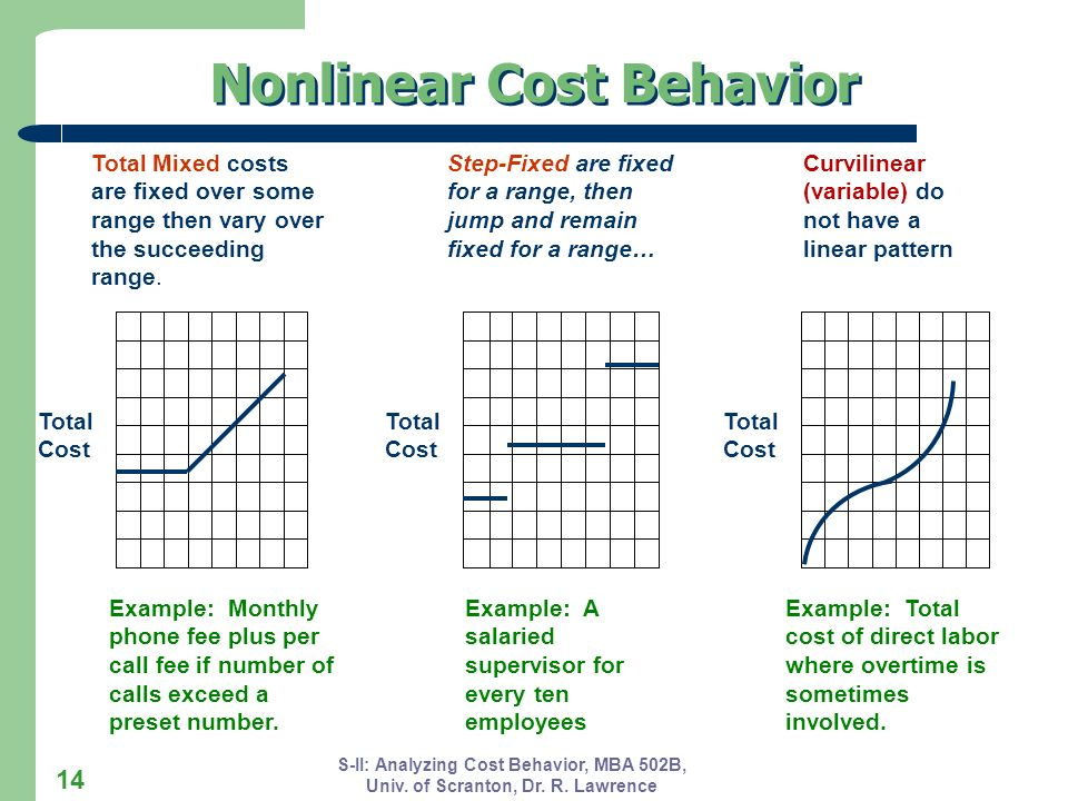Nonlinear Cost Behavior