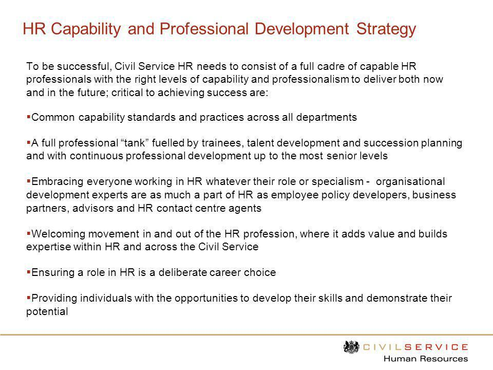 HR Capability and Professional Development Strategy