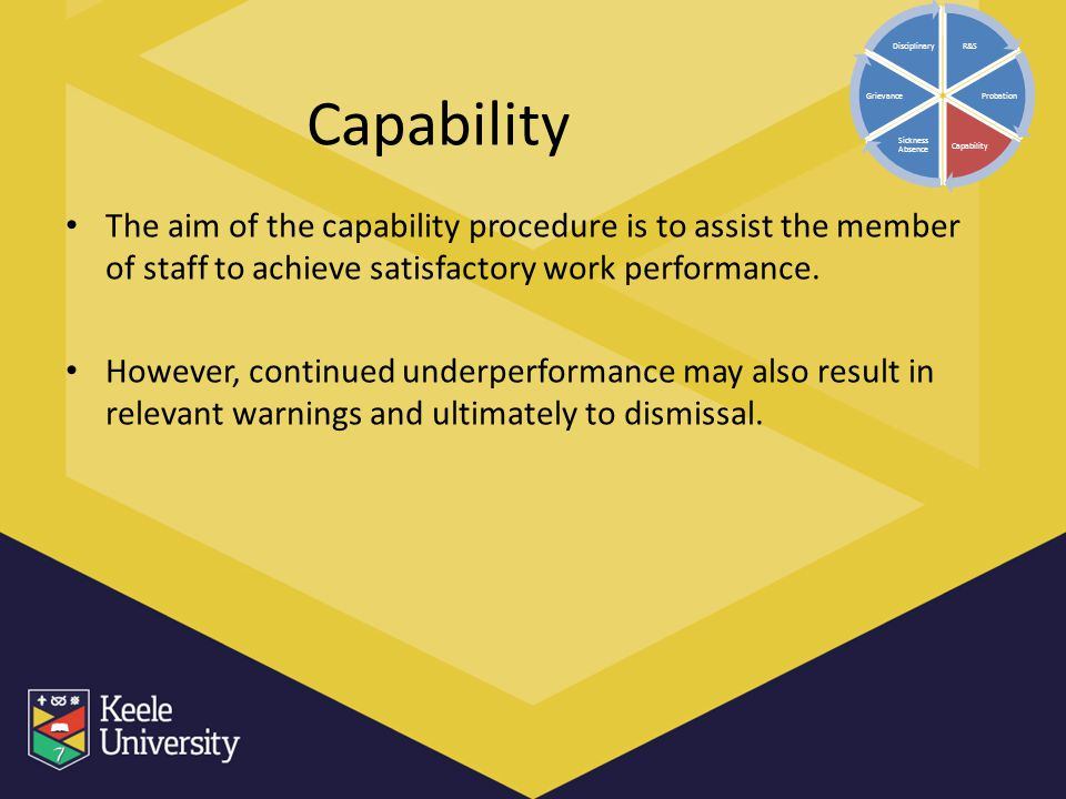 R&S Probation. Capability. Sickness Absence. Grievance. Disciplinary. Capability.