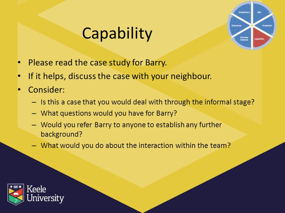 Capability Please read the case study for Barry.