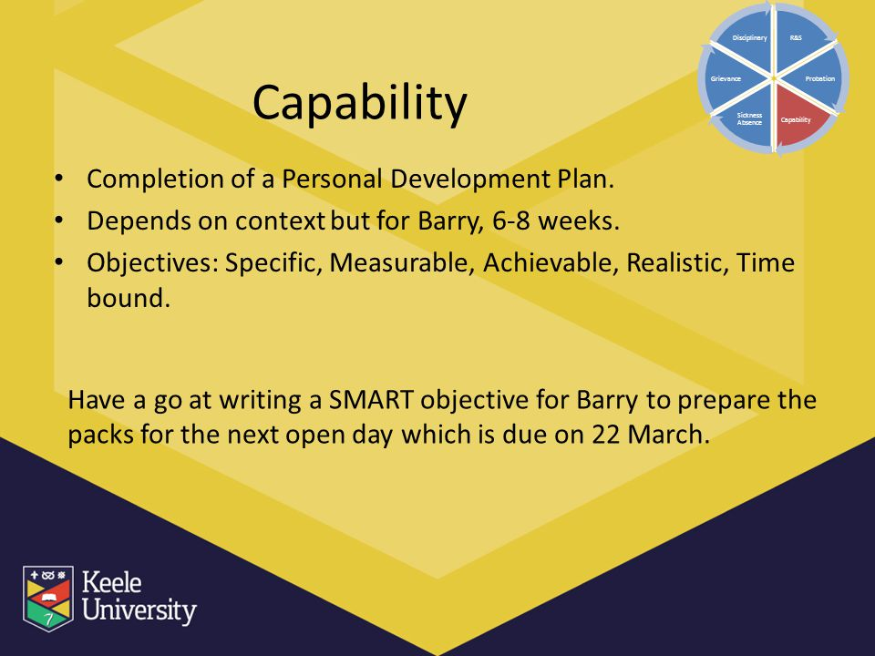Capability Completion of a Personal Development Plan.