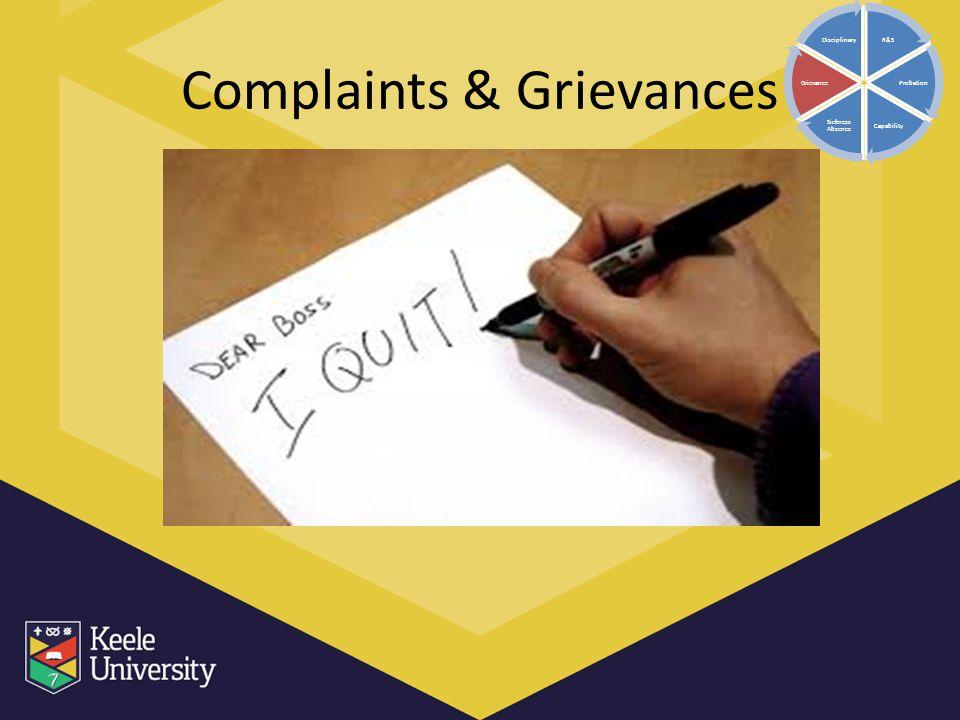 Complaints & Grievances