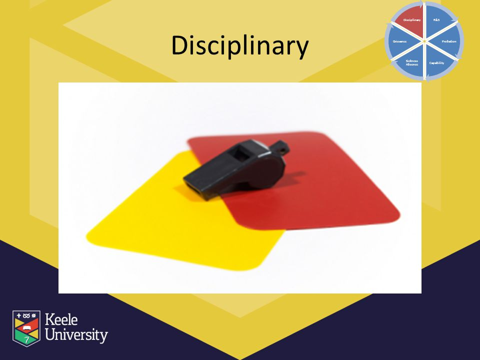 Disciplinary R&S Probation Capability Sickness Absence Grievance