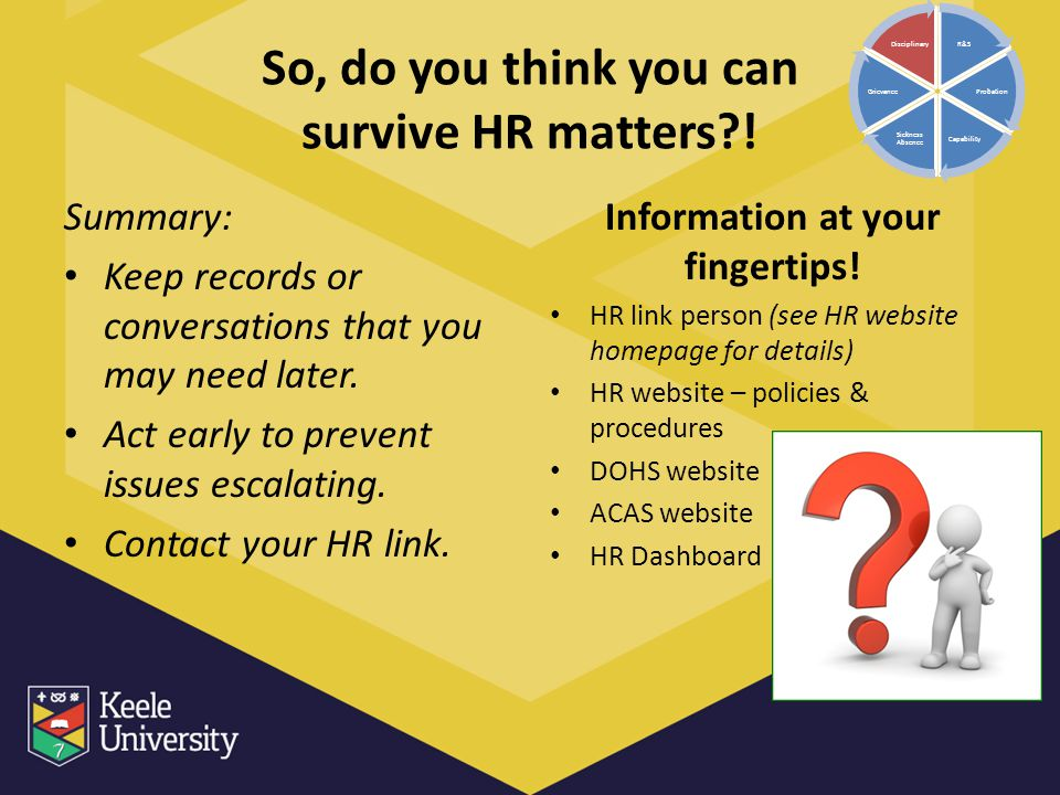 So, do you think you can survive HR matters !