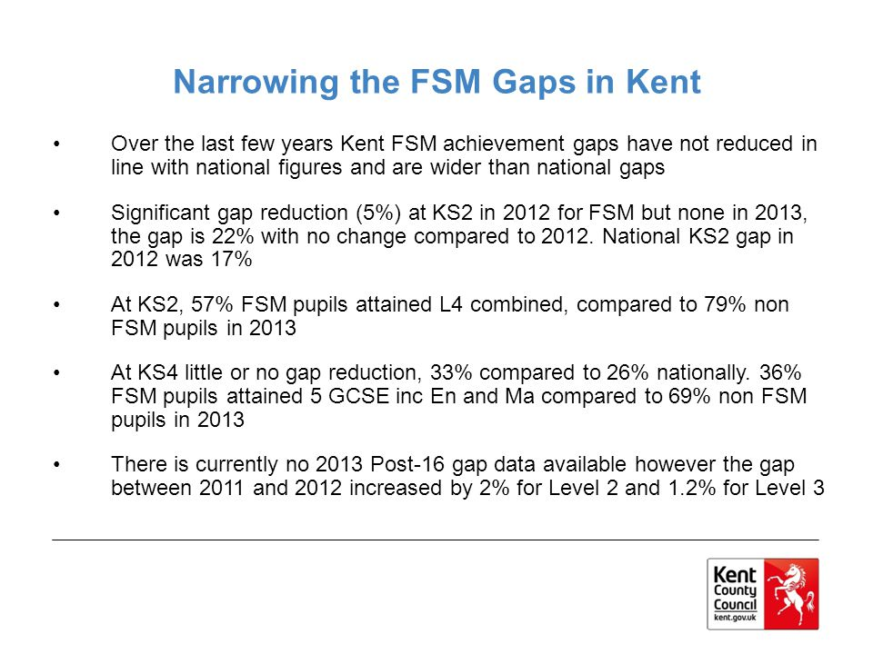 Narrowing the FSM Gaps in Kent