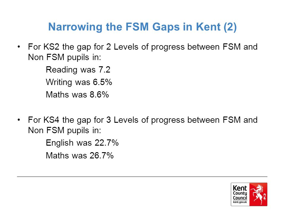 Narrowing the FSM Gaps in Kent (2)