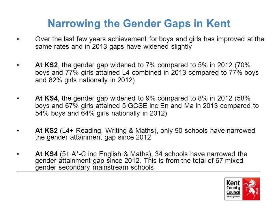 Narrowing the Gender Gaps in Kent