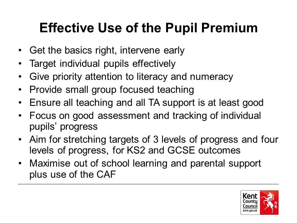 Effective Use of the Pupil Premium