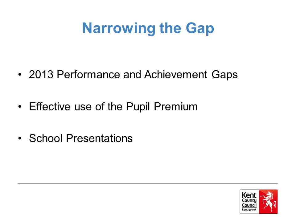 Narrowing the Gap 2013 Performance and Achievement Gaps
