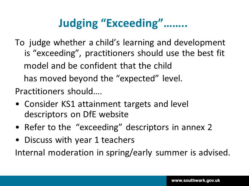 Judging Exceeding ……..