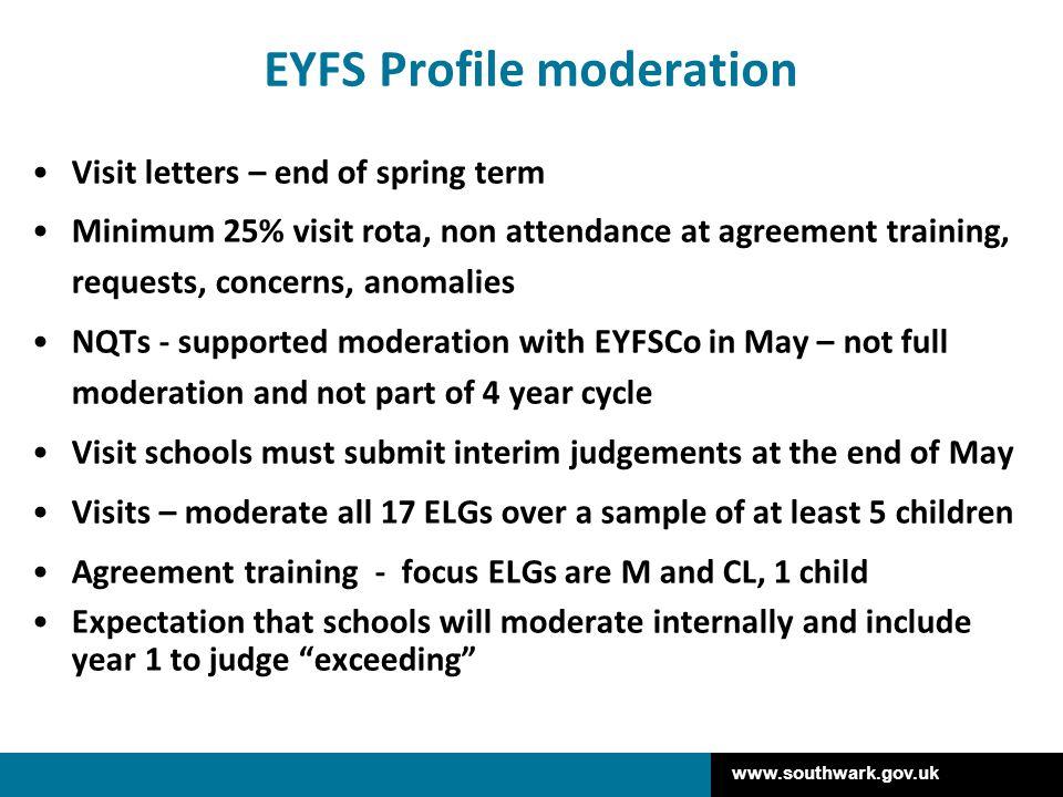 EYFS Profile moderation