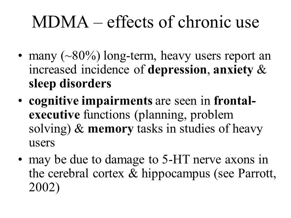 MDMA – effects of chronic use