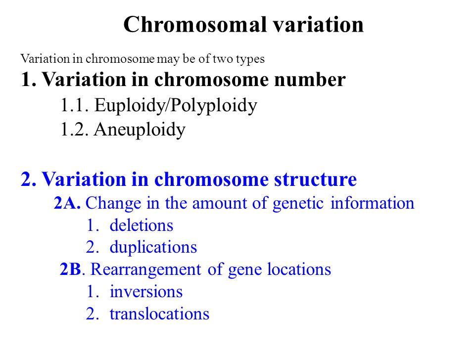 Chromosomal variation