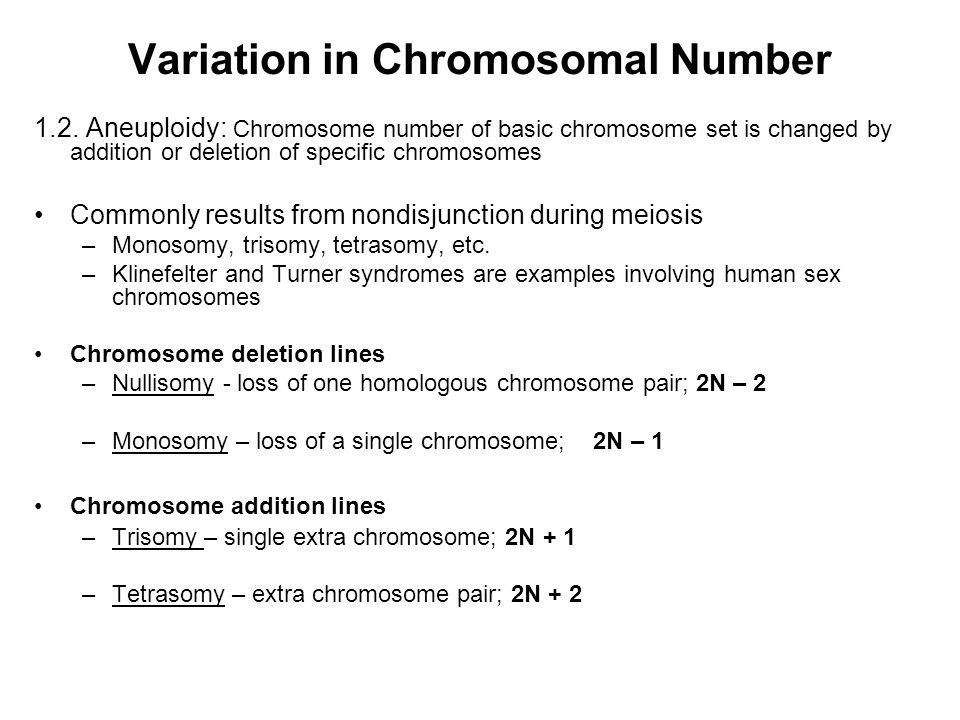 Variation in Chromosomal Number